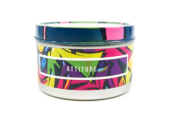 Attitude Flamin Wax Soy Candle Tin