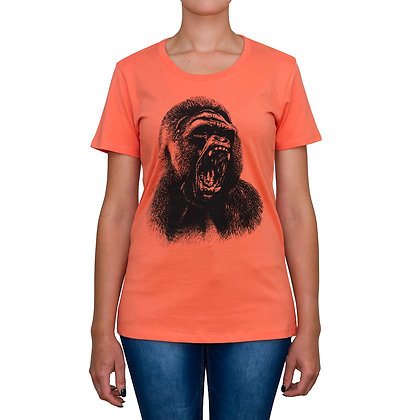 Ladies Going Ape Coral T-shirt