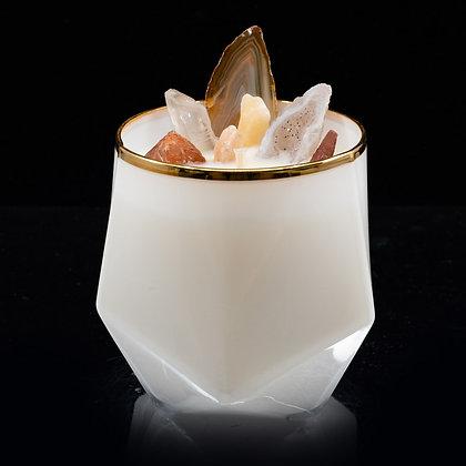 Dry Tobacco & Hay Flamin Wax Soy Candle Gemstone Series