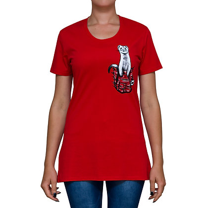 Ladies Pocket Buddy Red T-shirt