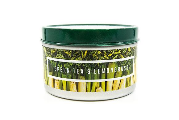 Green Tea and Lemongrass Flamin Wax Soy Candle Tin