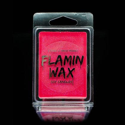 Flamin Wax Watermelon Glitter Soy Melts Tray x 6 cubes