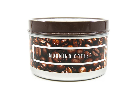 Morning Coffee Flamin Wax Soy Candle Tin