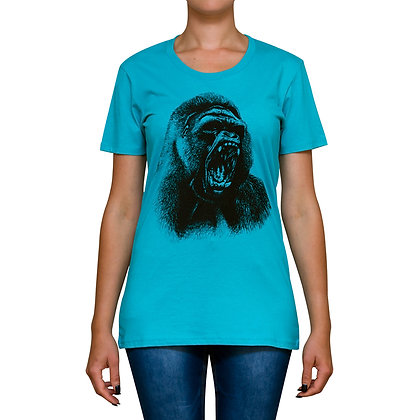 Ladies Going Ape Teal T-shirt