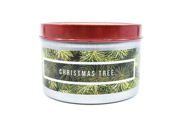 Christmas Tree Flamin Wax Soy Candle Tin
