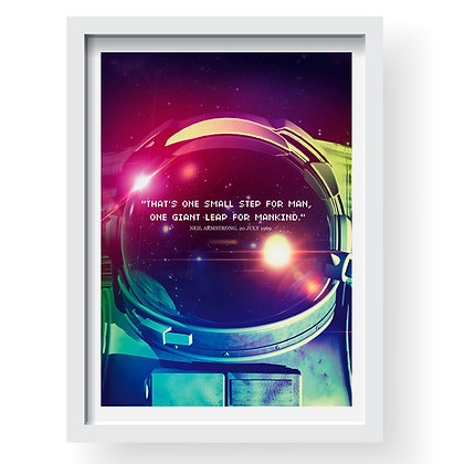 One Small Step Gilcee Art Print