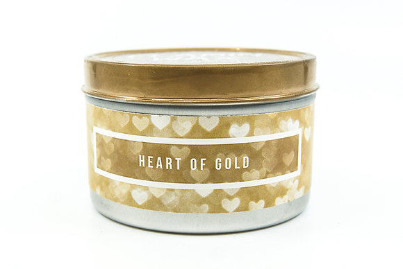 Heart of Gold Flamin Wax Soy Candle Tin