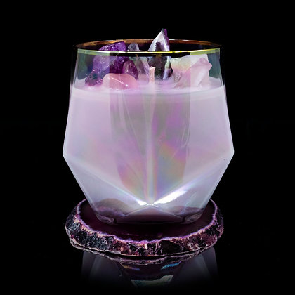 You Make Me Blush Flamin Wax Soy Candle Gemstone Series