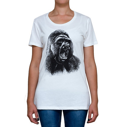 Ladies Going Ape White T-shirt