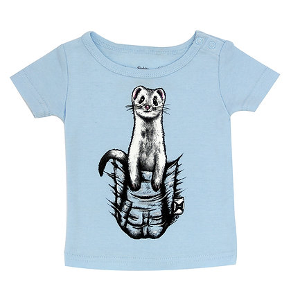 Babies Pocket Buddy Blue T-shirt