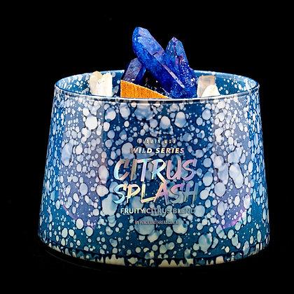 Citrus Splash Flamin Wax Wild Series Gemstone Soy Candle