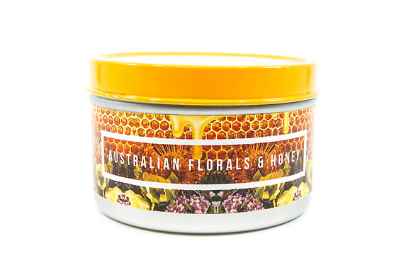 Australian Florals and Honey Flamin Wax Soy Candle Tin