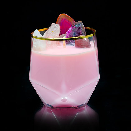 Pink and Delicious #1 Flamin Wax Soy Candle Gemstone Series