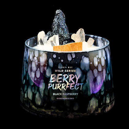 Berry Purrfect Flamin Wax Wild Series Gemstone Soy Candle