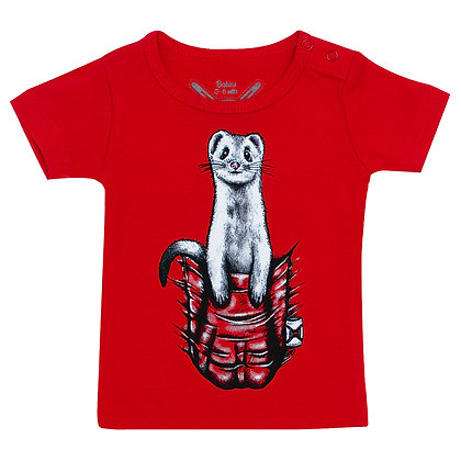 Babies Pocket Buddy Red T-shirt