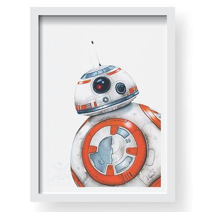 BB8 - STAR WARS Limited Edition Art Print