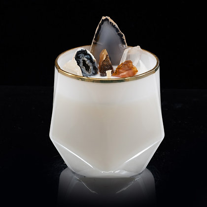 Creamy Coconut Flamin Wax Soy Candle Gemstone Series