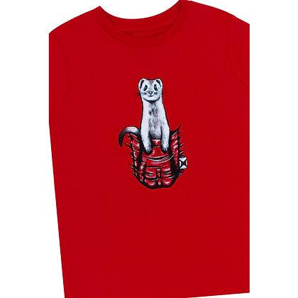 Kids Pocket Buddy Red T-shirt