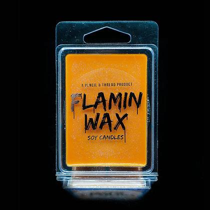 Flamin Wax Blood Orange Glitter Soy Melts Tray x 6 cubes