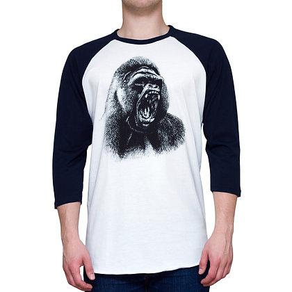 Guys Going Ape Navy-White 3/4 Sleeve T-shirt