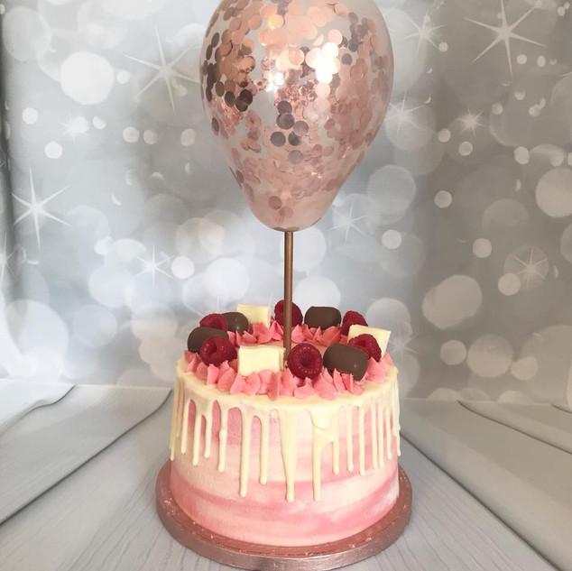 Pink Balloon Cake