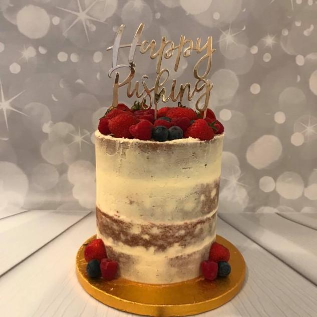 Baby Shower Semi Naked Cake
