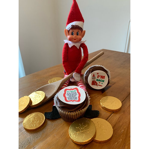Elf on the shelf cupcake box