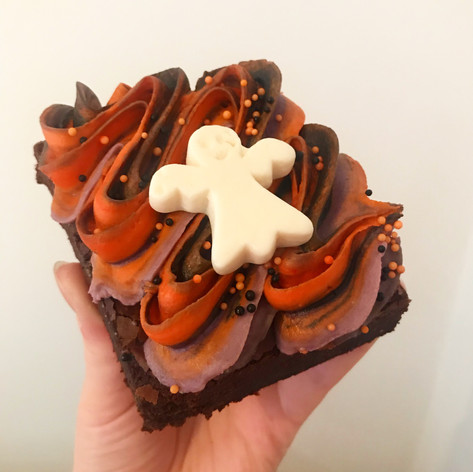 Halloween Frosted Brownie