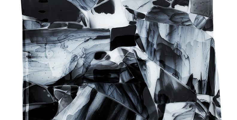 Black Smoky Crush Platter - Square
