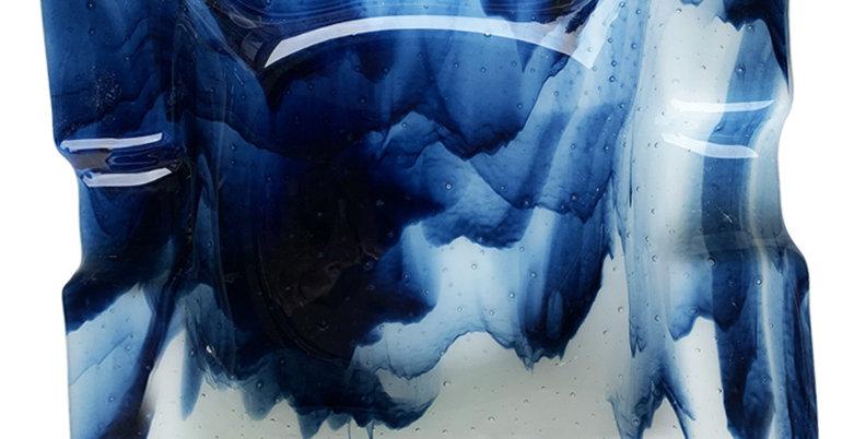Blue Smoky Ashtray - Large