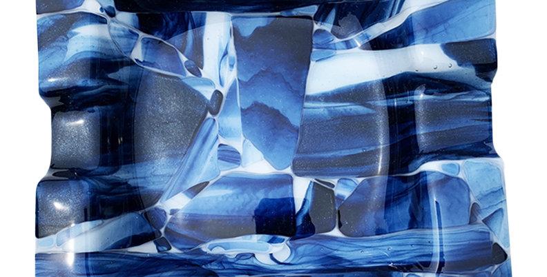 Blue Smoky Crush Ashtray - Large
