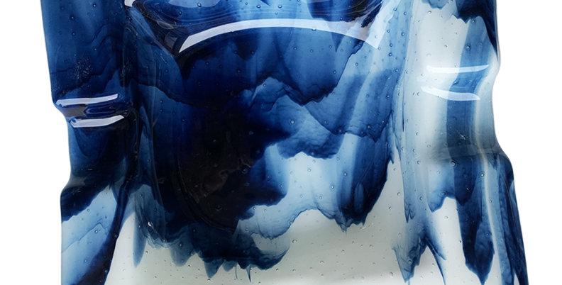 Blue Smoky Ashtray - Medium