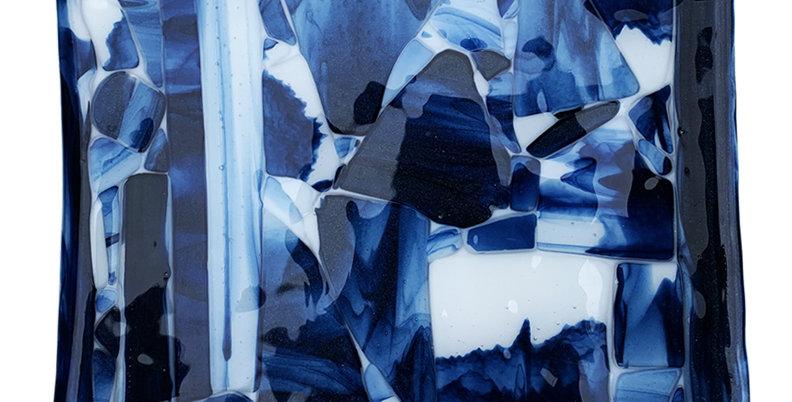 Blue Smoky Crush Platter - Square