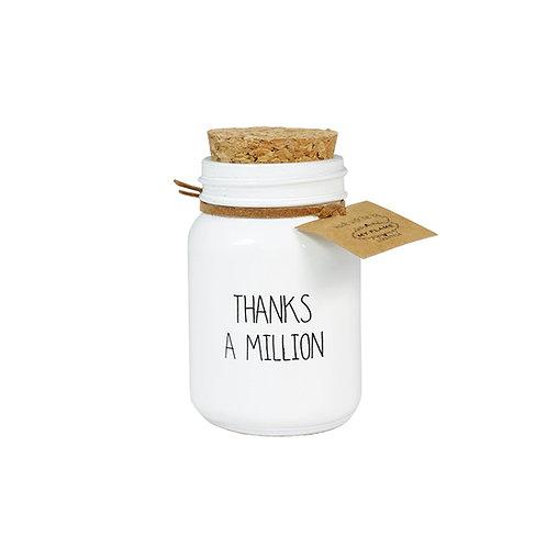 THANKS A MILLION soja kaars