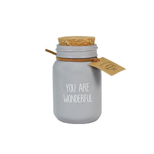 YOU ARE WONDERFUL soja kaars