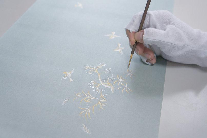 金箔,料紙,下絵,インテリア,アート,和紙,Giltdecoration