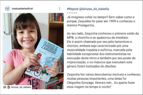 """Depoimento do livro """"As viagens de Zequinha - no terreno dos chorões"""", Márcia Feitosa"""