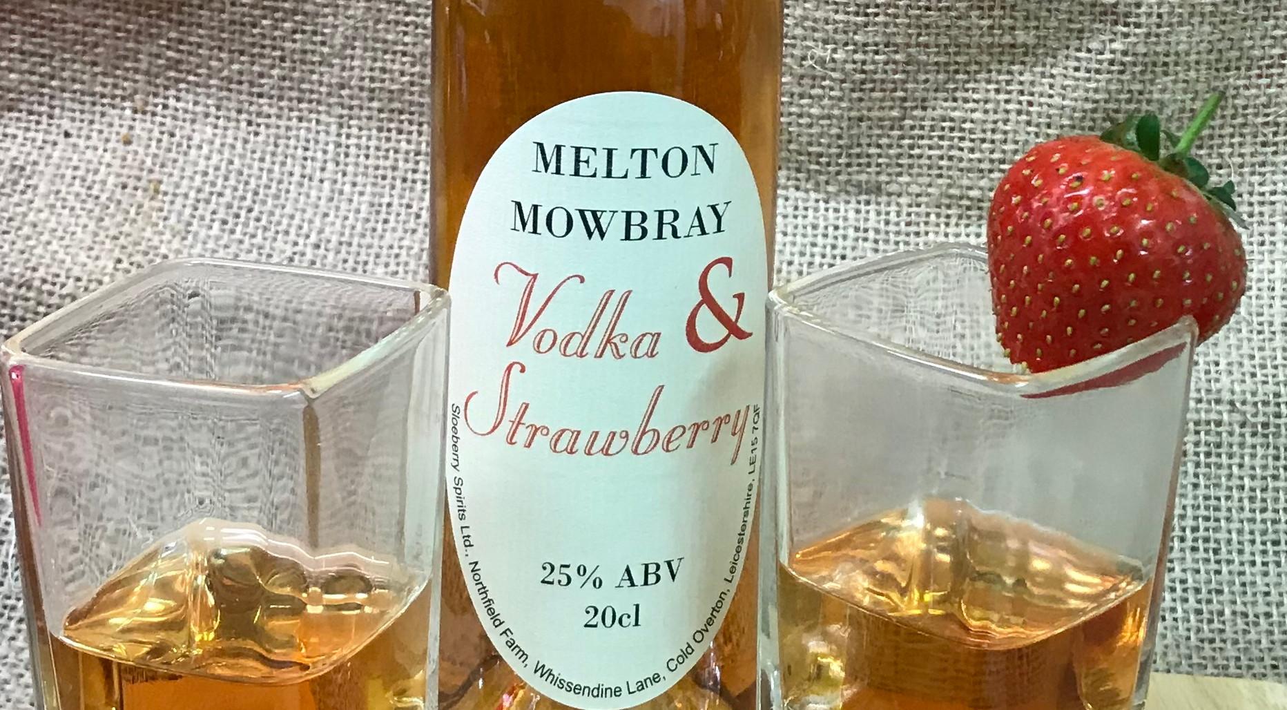 Strawberry Vodka in a glass