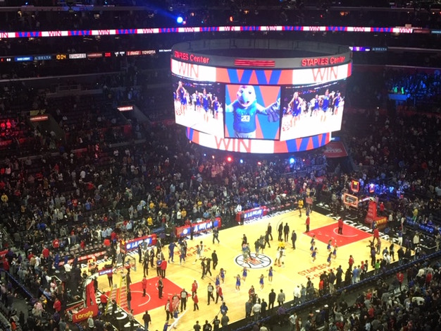Clippers at Staples Centre