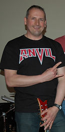 Guitarist in an Anvil T Shirt