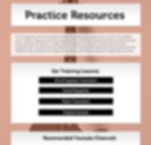 Screen shot of th practice resources page