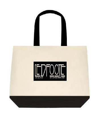 LEDFOOTE Two-Tone Deluxe Classic Cotton Tote Bag