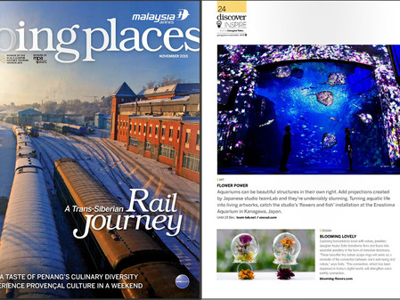 Nature-scape jewelry on Malaysia Airlines Magazine!
