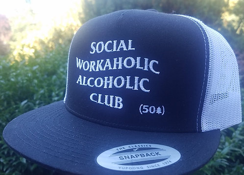 Social Workaholic A. Club Flat Bill Hat