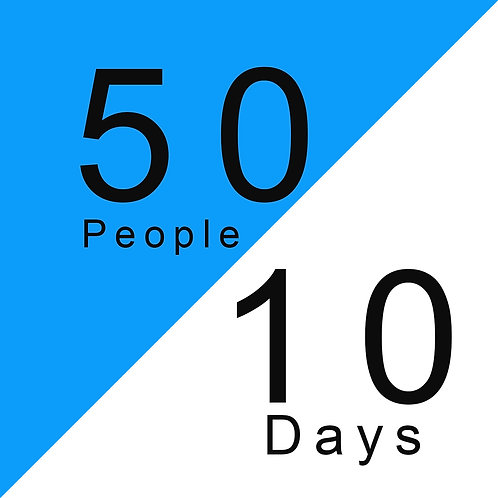 Feed 50 People For 10 Days