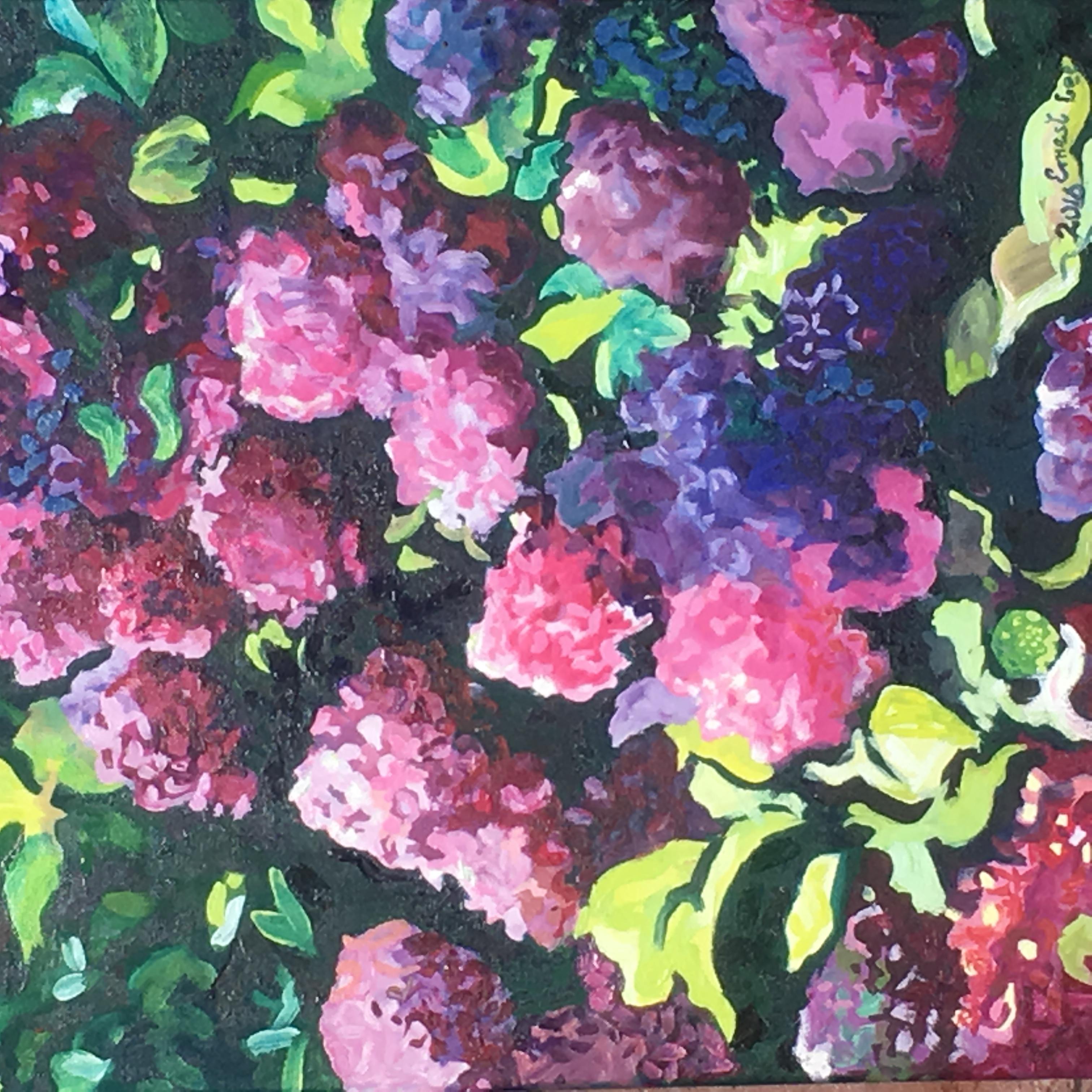 Ernie Lee, Pink Hydrangeas