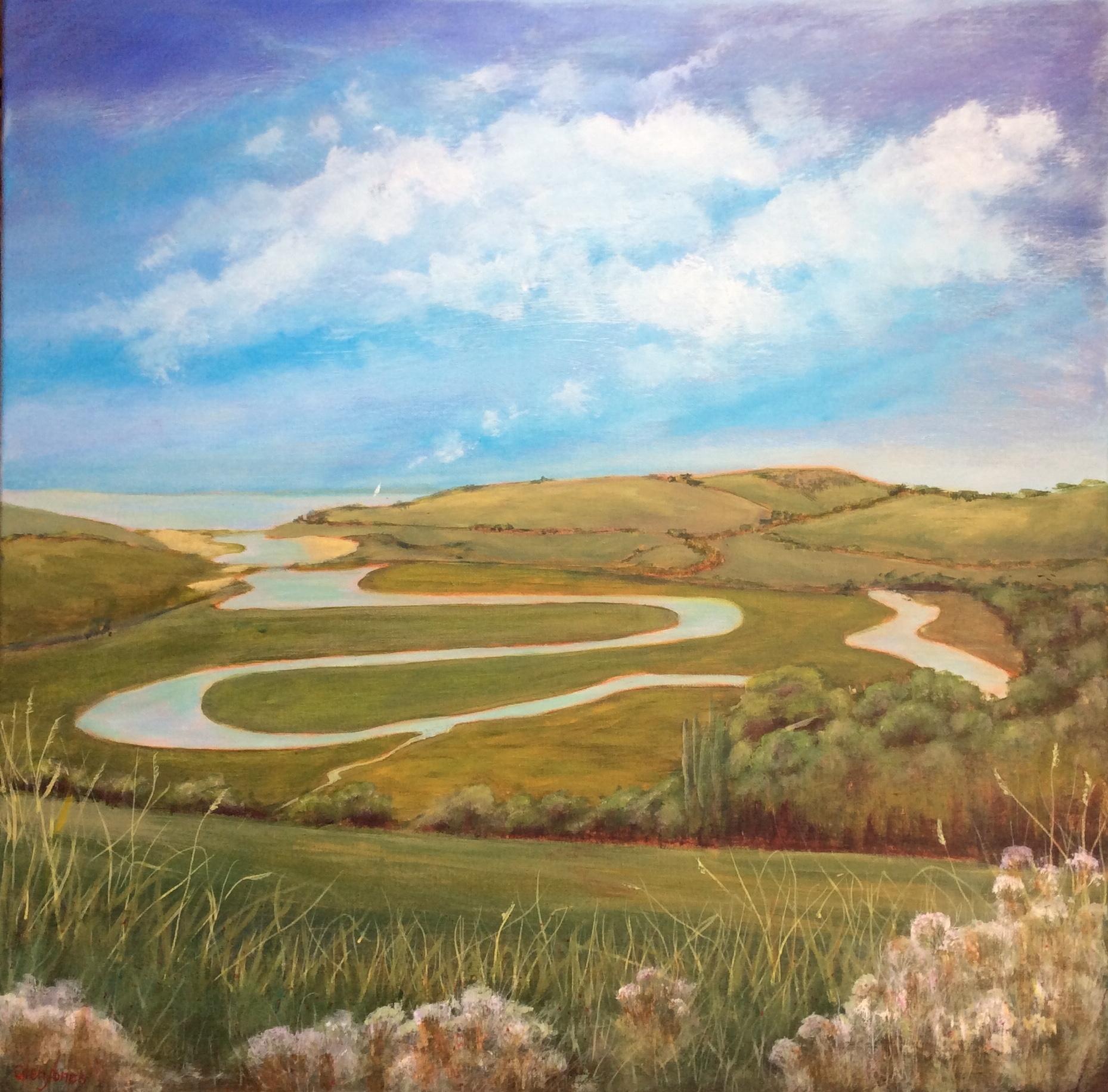 River Cuckmere, Acrylic