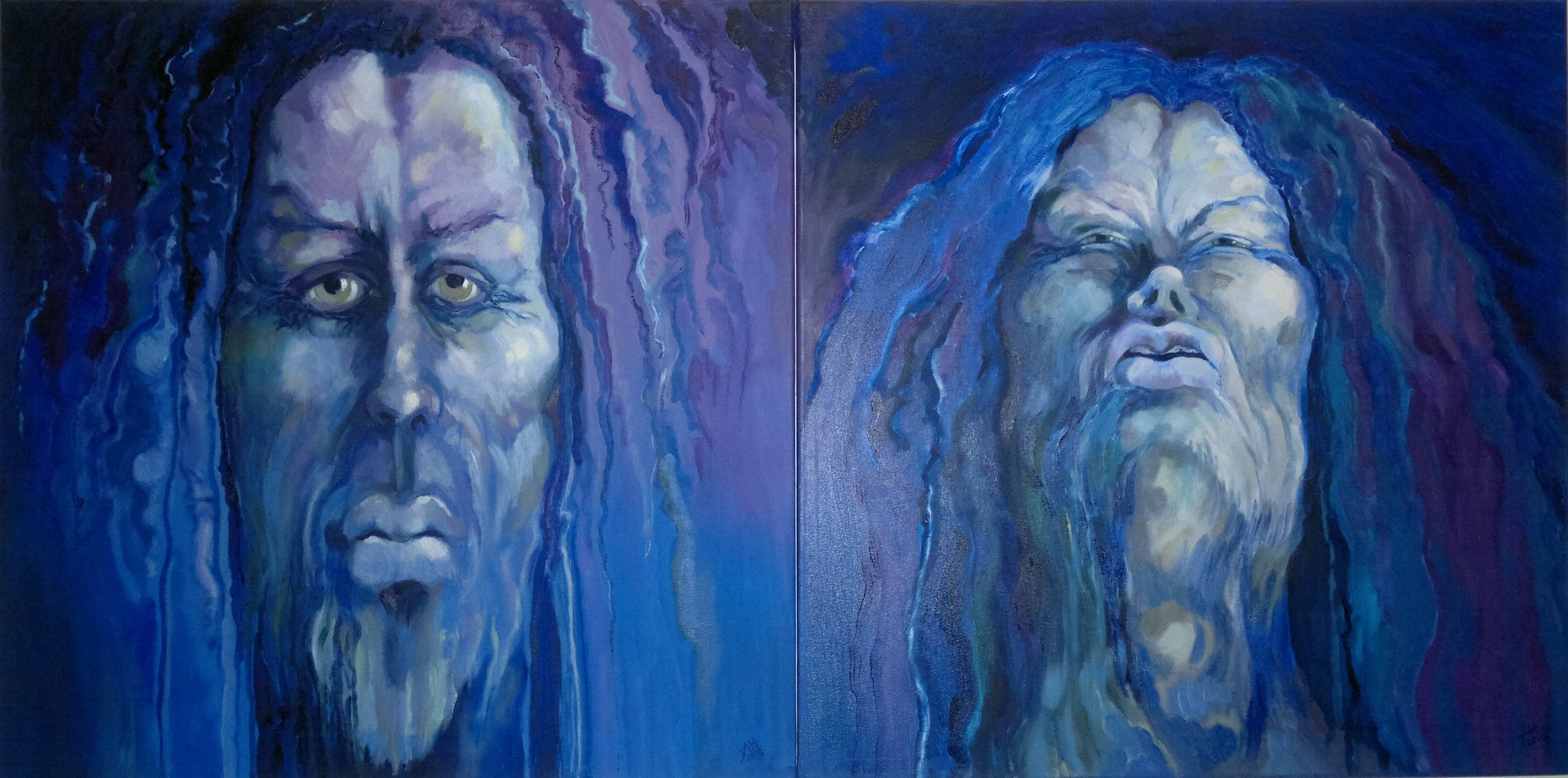 Faces of JAH (Diptich)