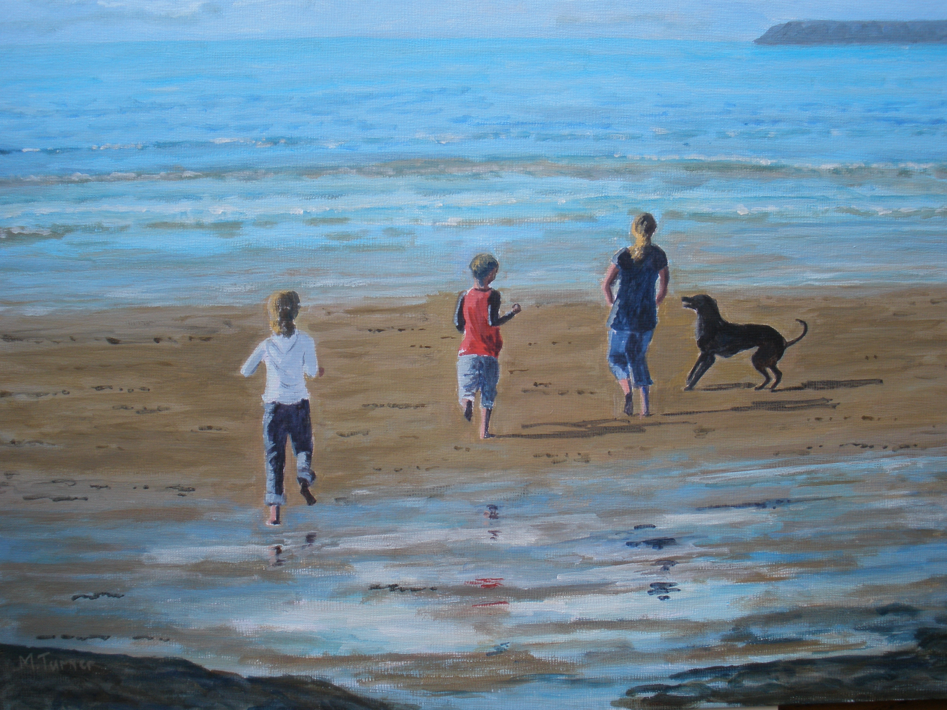 Running with the Tide, acrylic