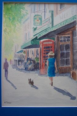 Lady in Blue, Watercolour
